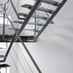 escalier metal bordeaux