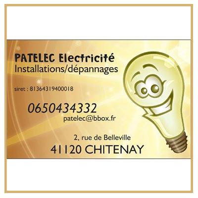 entreprise electricité blois chitenay loir et cher 41 patelec