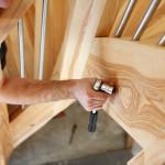 escalier bois morbihan