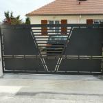 portail métal coulissant entreprise de métallerie aube