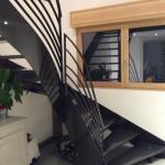 escalier métal métallerie aube