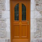 porte d'entrée en bois aube